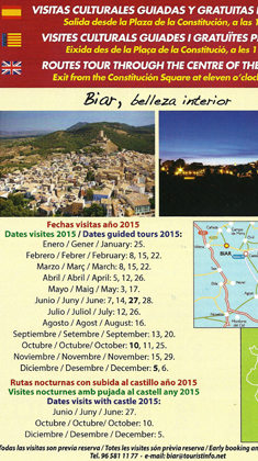 Guided tours 2015